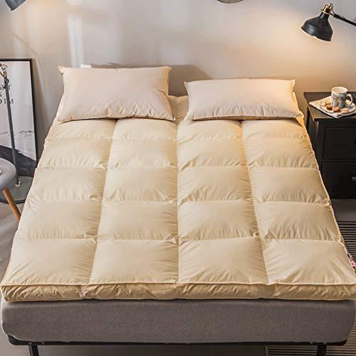 Huan Cama futon japones Tatami Estera del Piso Antideslizante y Transpirable Plegable de Fibra de poliéster Cojín Colchón Cojín portátil de decoración de Interior el Viaje de Camping