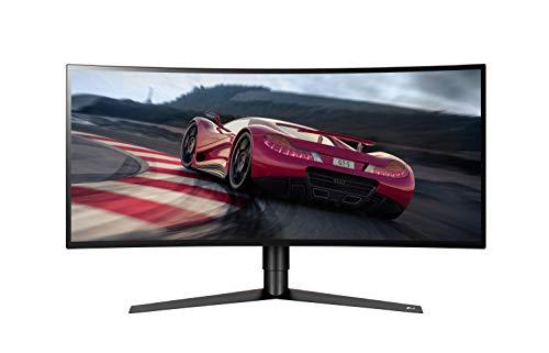 LG 34GK950F-B 86,36 cm (34 Zoll) UltraGearTM Curved 21:9 UltraWideTM QHD IPS Gaming Monitor (144 Hz, DCI-P3 98%, AMD Radeon FreeSyncTM 2, 1ms MBR), schwarz