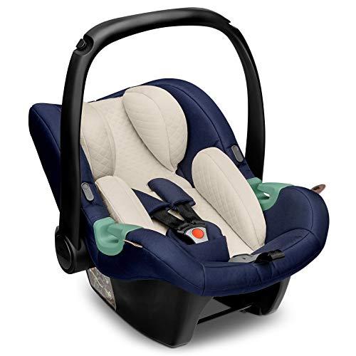 ABC Design Baby Autositz Tulip Diamond Edition – Babyschale für Gruppe 0+ i-Size bis 13 KG – Verstellbare Kopfstütze – Seitenaufprallschutz & 3-Punkt-Gurtsystem – Farbe: navy
