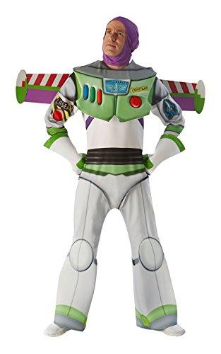 Toy Story - Disfraz de Buzz Lightyear Super Premium para adultos, talla única (Rubie