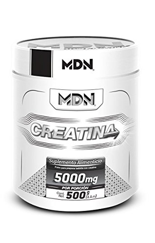 MDN, Creatina Monohidratada, 500g sin sabor 100 servicios.