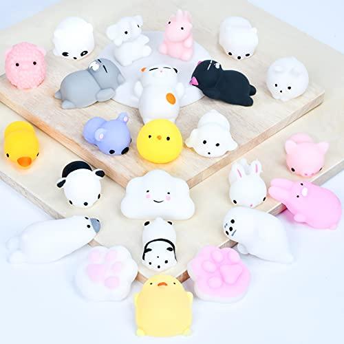 EKKONG 24Pcs Kawaii Squishy Jouet, Anti Stress Squishies, Mini Soft Squishies Jouet, Squishy Toys pour Cadeaux Anniversaire Noël, Enfants Adulte