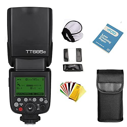Godox TT685C TTL Flash Camera 2.4G HSS High Speed 1 / 8000s GN60 con alte prestazioni competibile per Canon EOS 5D Mark III 5D Mark II 6D 7D 60D 50D 40D 30D 650D 600D 550D 500D 450D 400D 1100D 1000D