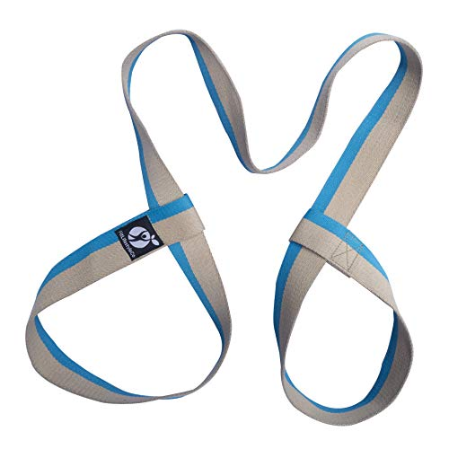 FitLifestyleCo Yoga Mat Strap - Carrying Sling - Durable Cotton - 4 Colors, Blue Light Brown by FitLifestyleCo
