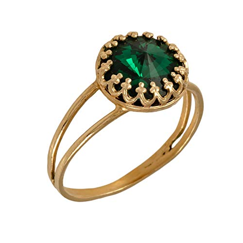 Emerald Ring Stacking Ring Emerald Jewelry Gold Ring