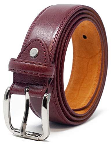 Ossi Hommes 32mm pantalon classique ceinture - châtaigne (taille 81cm - 91cm)