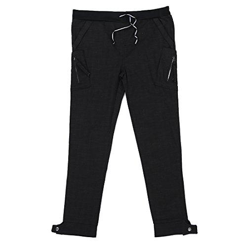 TOOGOO(R) Uomo Pantaloni Lunghi Caviglia Stretta Nero Stile Coreano