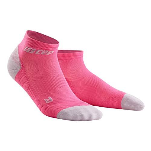 CEP – Low Cut Socks 3.0 für Damen   Kurze Sportsocken für Dein Workout in pink/grau   Größe III