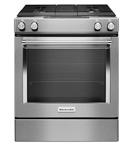 Stainless Steel Kitchenaid 30-inch 4-burner Dual Fuel Downdraft ...