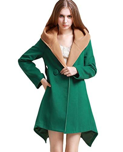 Nvfshreu Damesjas met capuchon Winter Locker lange mouwen effen kleuren Irregular windjack twee rijen comfortabele maten Warme Parker Hoogwaardige Coat