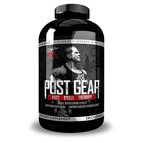 Rich Piana 5% Nutrition Post Gear PCT Support | Post Cycle Therapy Supplement for Men | Estrogen Blocker, Liver Health | Milk Thistle, DIM, DAA, Stinging Nettle, Longjack 240 Capsules (30 Day Supply)