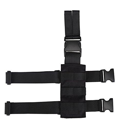 OneTigris Taktische Molle Beinplatte Beinplatform für Pistolenholster (Schwarz)