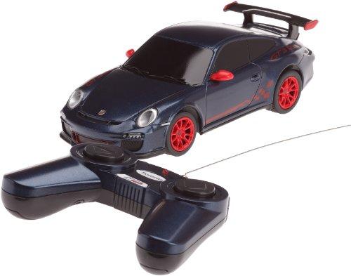 Mondo Motors - 63098 - Voiture Radio Commande - Porshe GT3 RS - Echelle 1/ 24 - Bleu Foncé/Rouge