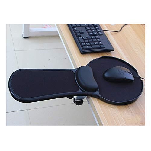 Armauflage Computer Armlehne Unterarmauflage Ergonomische Unterstützung Flexibel Handgelenkauflage für komfortable Arbeit am PC Schreibtisch,Schwarz,Wie das Bild zeigt