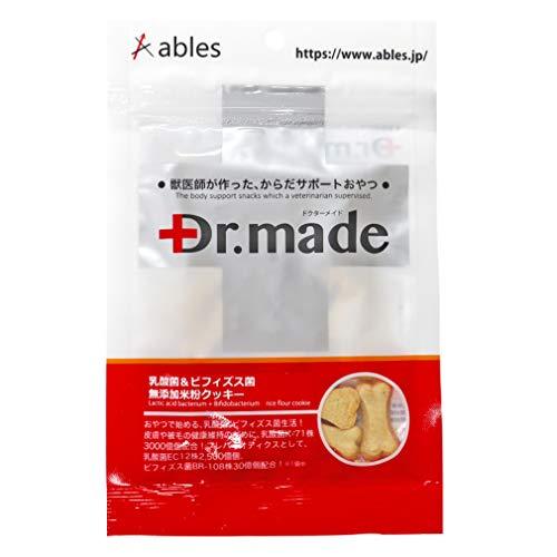 ables(アブレス) 犬用おやつ Dr.Made 乳酸菌&ビィフィズス菌 無添加 米粉クッキー 30g