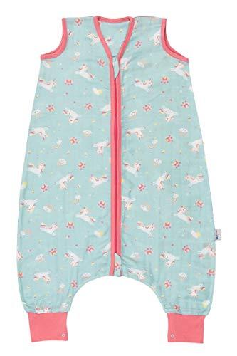 Schlummersack Saco de dormir con pies de muselina de bambú para el verano, sin forro, 0,2 tog, 80 cm