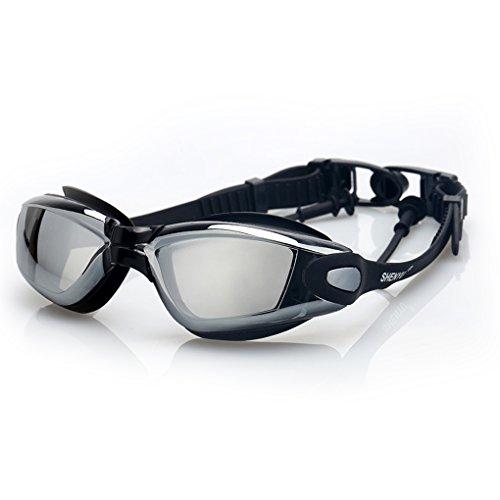 Demino Anti Fog Geen Lekkende Zwembril Zwembril UV Bescherming voor Volwassen Kinderen Kinderen Hyun zwart