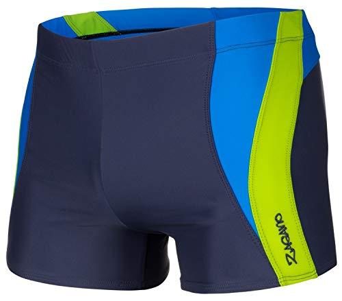 Zagano, costume da bagno/nuoto, da uomo, 2376 blu/verde XXL