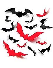 SENMAN ハロウィン ウォールステッカー コウモリ 飾り付け デコレーション リアルな蝙蝠感 3D 立体 ウォールステッカー 壁飾り 店内飾り DIY 学園祭 PVC製 デコレーションステッカー