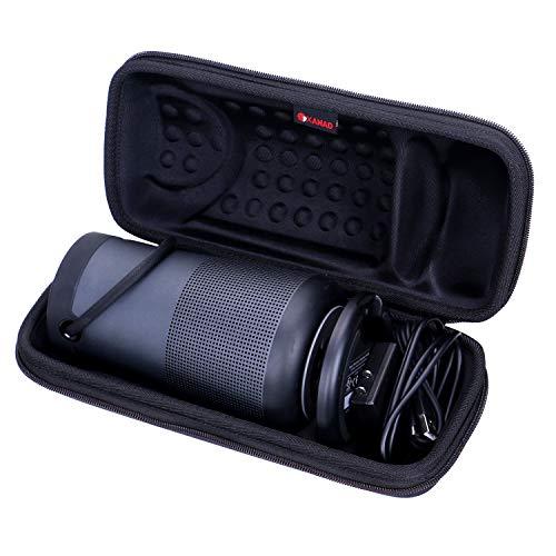 XANAD Hard Travel Carrying Case for Bose SoundLink Revolve+ Portable & Long-Lasting Bluetooth 360 Speaker - Storage Protective Bag (Black)
