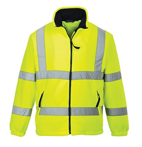 PORTWEST F300 - Warnschutz-Fleece-Jacke mit Netzfutter, 1 Stück, XXXL, gelb, F300YERXXXL