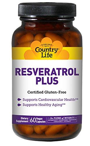 Country Life Resveratrol Plus, 60 Vegetarian Capsules