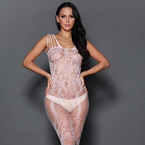 Conjuntos de lencería Vestidos eróticos de Mujer Lencería erótica Sexy Pijamas de Encaje Medias de una Pieza Medias Sexy Color de Imagen 3 Tamaño Libre