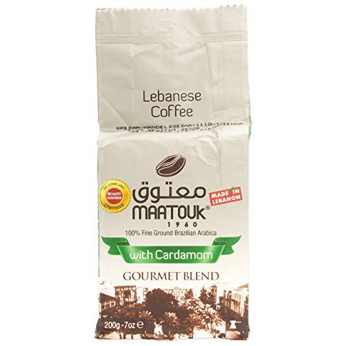 Maatouk - Arabischer Mokka Kaffee gemahlen mit Kardamom in 200 g Packung