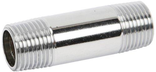 T&S Brass 000357-40 3/8-Inch Npt X 2-Inch Long Nipple, Polished Chrome