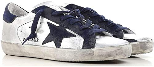 Golden Goose Deluxe Brand Superstar Silver Women Sneakers G33WS590.H51 Size 39 (9 US) Color: Silver