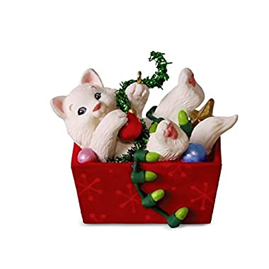 Hallmark Keepsake Christmas Ornament 2018 Year Dated, Mischievous Kittens