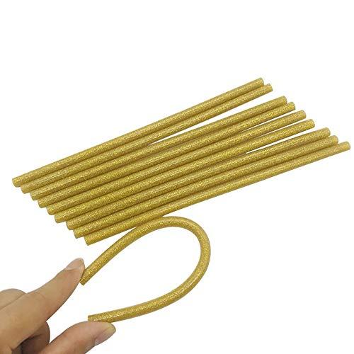 W-L Heißklebepatronen 20pcs 7x200mm DIY Gold heiße Schmelzkleber-Sticks Kleber for Klebepistole Hochviskostechnik Adhesive Reparatur DIY Art Craft Heizung Werkzeug