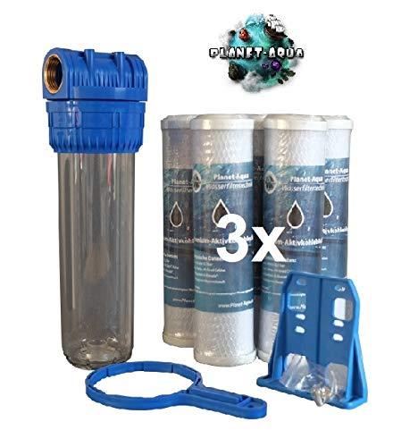 Planet-Aqua Filtergehäuse Set 10 Zoll 3/4