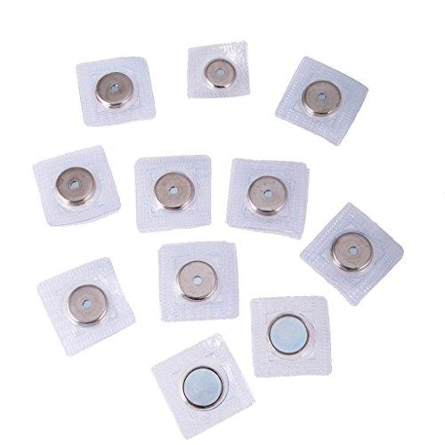 B Blesiya 20pcs 15mm Invisible Coudre-Fermeture Magnétique PVC Fermeture Vêtements Pure Attache