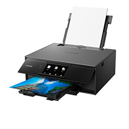 Canon PIXMA TS9150Multifunktionssystem Tintenstrahldrucker (Drucken, Scannen, Kopieren, DIN A4, WLAN, Bluetooth, 6 separate Tintentanks, Farb-Touchscreen, 4.800 x 1.200 dpi, Duplexdruck), grau