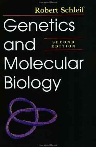 Genetics and Molecular Biology by Dr. Robert F. Schleif (1993-10-01)