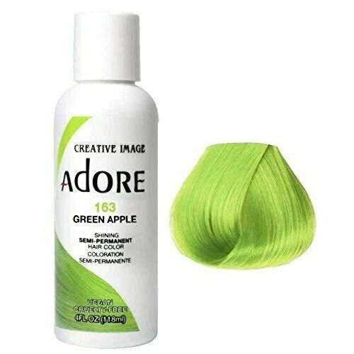 Adore Semi-Permanent Haircolor, Green Apple 163, 4 Fl Oz (AD-163)