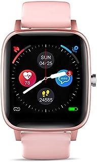 Smart Watch,T98 ,Body Temperature Measurement ,IP67 Waterproof,Sports Data, Calorie Monitoring,Activity Trackers,Pedometers,Smart Sports Bracelet,Heart Rate ,Blood Pressure, Blood Oxygen (Pink)