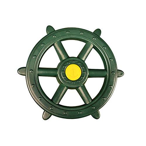 Gorilla Playsets 07-0015-G Large Ships Wheel Swing Set Accessory, Green