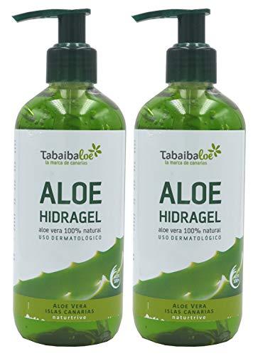 TABAIBA Hidragel Aloe Vera, Gel Hidratante con Aloe Vera, 300 ml x 2 unidades