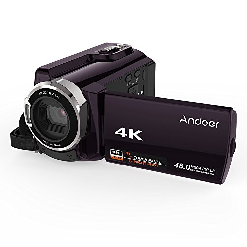 Andoer HDV-534K WiFi Digital Video Camera 4K 48MP Full HD with 3 inch Capacitive Touchscreen and IR Infrared Night Sight Support 16X Zoom Face Detect