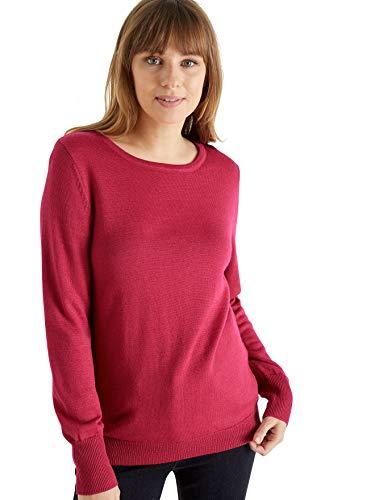 Balsamik - Jersey de lana de merino, cuello redondo, para mujer