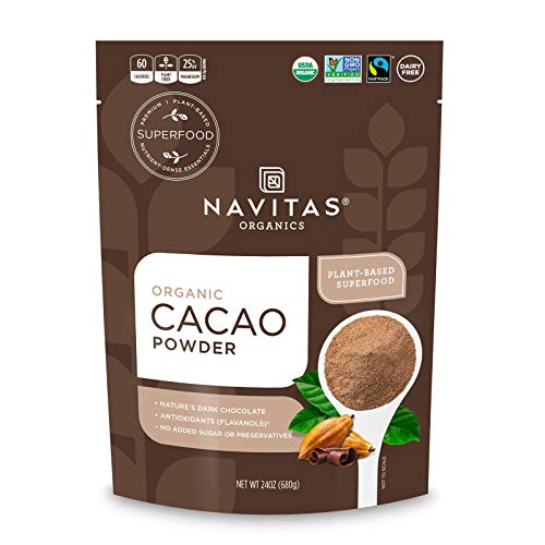 Navitas Organics Cacao Powder, 24 oz. Bag — Organic, Non-GMO, Fair Trade, Gluten-Free