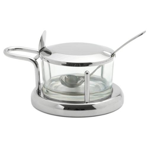 Parmesan-Dose Glas/Edelstahl