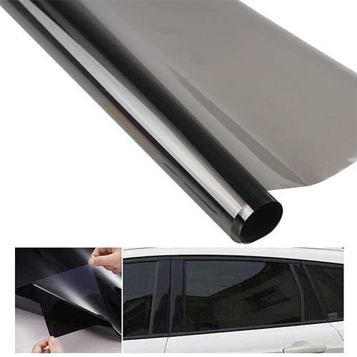 Scheibentönungsfolie Selbstklebend,Schwarz 35% Solar Screen Profi Auto Tönungsfolie Scheibenfolie 50x600cm