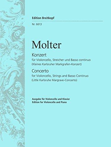 Violoncellokonzert C-dur Kleines Karlsruher Markgrafen-Konzert - Ausgabe für Cello und Klavier (EB 6613)