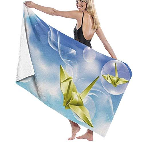 chillChur-DD Bath Towel Badetuch Wickelpapier Kran in der Sonne druckt Womens Spa...