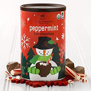 Lake Champlain Holiday Peppermint Organic Hot Chocolate, 16 Servings, 1 Pound