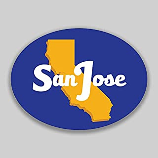 JMM Industries San Jose California City Vinyl Decal Sticker Car Window Bumper Yeti Planner Organizer 2 Pack 4.5-Inches by 3.5-Inches Premium Quality UV Protective Laminate PDS1621