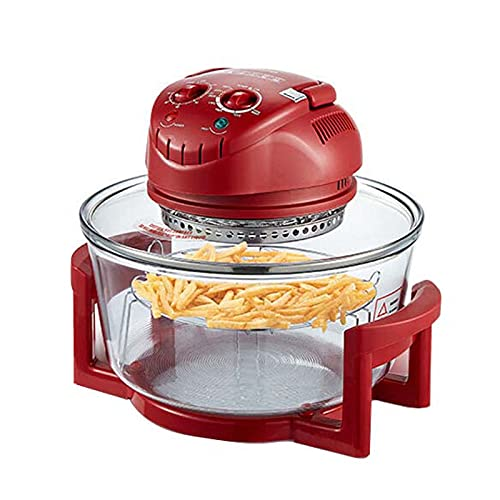 Wgwioo Electric Multi-Function Air Fryer Oven, Air Fryer Halogen Oven with Digital Lcd Display, Tower Air Fryer Oven, Health Halogen Low Fat Air Fryer